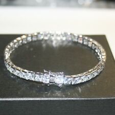 15 Carat Princess Diamond Alternatives Tennis Bracelet 14k White Gold over Base
