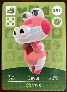 GENUINE Animal Crossing Amiibo Card - Gayle 391 - Series 4