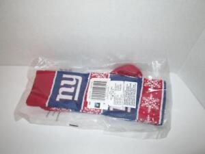 NIB Women's NFL New York Giants Snowflake Print Knee-High Socks Size 6-11