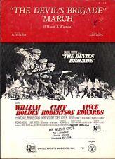 The Devil's Brigade MARCH 1968 WILLIAM HOLDEN Movie ALEX NORTH Sheet Music!
