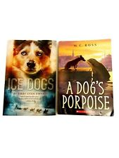 Lot Of 2 Dog Novels-Young Adult Fiction Books-Ice Dogs/A Dog'S Porpoise-pb