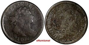 US Copper 1808 DRAPED BUST HALF CENT 1/2 c. (13 764)