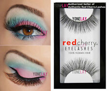 Red Cherry Lashes Strip Eyelashes 100 Human Hair Delivery Wispies 43 WSP 107