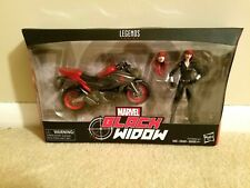 HASBRO MARVEL LEGENDS BLACK WIDOW WITH MOTORCYCLE AND EXTRA HEAD