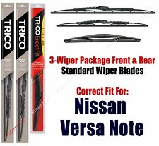 3-Pack Wipers Front/Rear Standard fit 2016+ Nissan Versa Note - 30260/110/12B