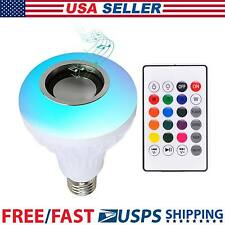 Bluetooth LED Light Speaker Bulb 12W E27 RGB with Wireless Music Playing Remote
