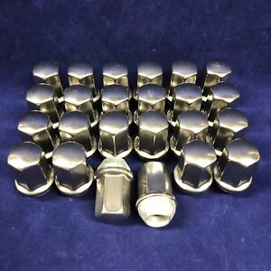 QTY 24: Dorman GM Chevy Lug Nuts 9596070 611-236 M14-1.5 X 22 Made In USA