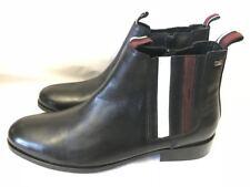 Ben Sherman Mens Black Chelsea Slip On Leather Zip Smart Casual Boots Size 8