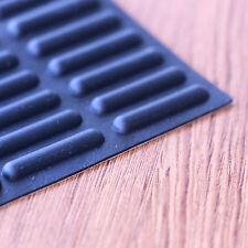 Self Adhesive Slim Stick Rubber Feet Set 25mm(L) x 5mm(W) x 3mm(H), 6pcs Pack