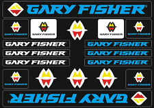 Gary Fisher Mountain Bicycle Frame Decals Stickers Adhesive Set Vinyl Blue
