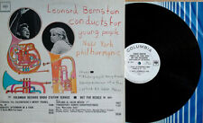 LEONARD BERNSTEIN - CONDUCTS FOR YOUNG PEOPLE - COLUMBIA - WLP LP + TIMING STRIP