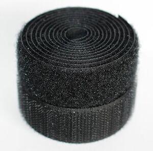 Black 20mm Sew on Hook & Loop tape Fastenings - Various Lengths Alfatex® Brand