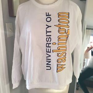Vintage 1980s University of Washington Cottontops Shirt Sweatshirt Large