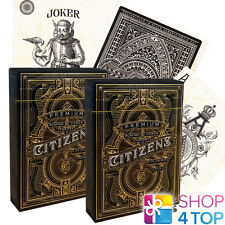 2 DECKS CITIZENS THEORY 11 LUXURY PLAYING CARDS GOLD MAGIC TRICKS SEALED USA NEW