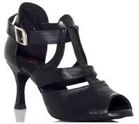 Genuine leather Latin dance shoes adult women's Ballroom dancing shoes high heel