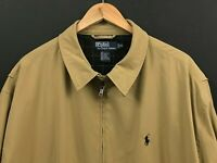 Polo Ralph Lauren Men's Classic Beige Full Zip Jacket Lined sz XXL 2XL