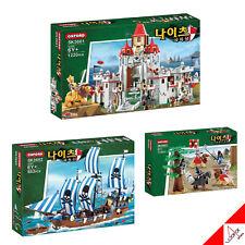 "Oxford Knights ""LION CASTLE+PIRATE SHIP+KNIGHTS"" Brick Mania Block Assembly Kit"
