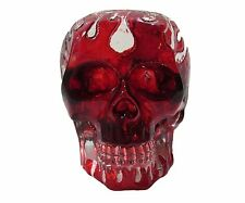 Clear Red Flame Translucent Human Skull Sculpture Halloween Skeleton Figure New