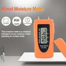 Digital LCD Damp Moisture Tester Wood Brick Timber Plaster Sensor Meter Detector