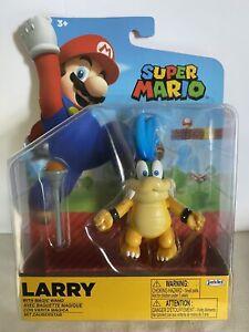 "Super Mario World of Nintendo Larry Koopa 4"" Figure w/ Magic Wand Jakks Koopa"
