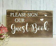 Wedding Guest Book Sign Rustic Wooden Table Decoration Vintage Wedding Venue