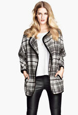 H&M Wool Blend Check Coats & Jackets for Women