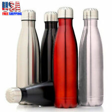 OUTAD Water Bottles 5 Colors 500ML 17Oz Stainless Steel Vacuum Double Wall US