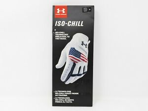Under Armour UA ISO Chill Golf Glove USA White Men's Cadet Right Sz M