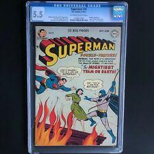 SUPERMAN #76 (1952) 💥 CGC 5.5 OWW 💥 BATMAN & SUPERMAN MEET & LEARN IDENTITIES!
