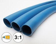 "(1 FOOT) 1.0"" Blue Heat Shrink Tube 3:1 Dual Wall Adhesive Glue Line Marine/to"