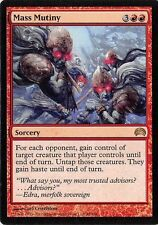 4X Mass Mutiny - LP - Planechase MTG Magic Card Red Rare