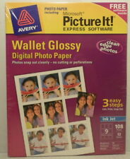 New Avery Wallet Size Glossy Digital Photo Paper w/ PictureIt! Express Software