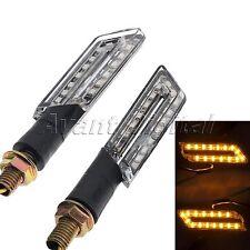 2Pcs Motorcycle Black 20 LED Turn Signal Light Indicator Blinker Amber For Honda