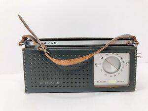 Vintage Sony FM AM 9 Transistor Radio Model TFM-96 w/ Leather- No Reception-