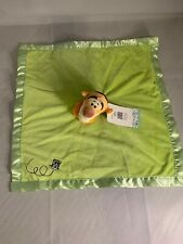 New Disney Winnie Pooh Tigger Green Plush Baby Security Blanket Lovey Blankee