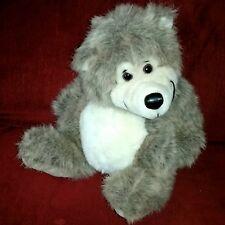 24K Polar Puff Brown Bear Shaggy Plush Tan Muzzle Pads Ears Black Vinyl Nose 91