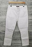 Tommy Hilfiger White Crop Jeans Size UK 10