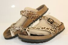 Papillio By Birkenstock Womens 8 39 Animal Print Sandals Slides Shoes rs