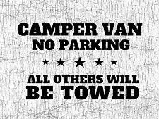 METAL SIGN CAMPER VAN VW NO PARKING VINTAGE STYLE T4 T5
