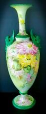 BELLEEK LENOX Antique 19c 1800's Trenton NJ CAC Large Vase Urn RARE Hand Painted