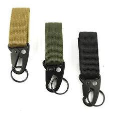 Tactical Webbing Molle Hook Key Clip Buckle Hanging Belt With H&K Snap Carabiner