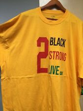 """2 Live Crew """"2 Black 2 Strong 2 Live  tshirt Gold shirt black red green letters"""
