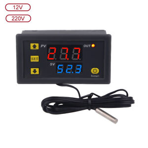 W3230 DC 12V 24V AC 110-220V Digital Temperature Controller Thermostat New ST