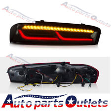 Red Sequential Tail Lights LED Rear Lamps For 2016-2018 Chevrolet Camaro