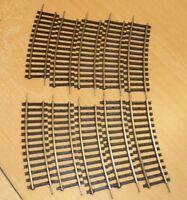 Piko 6814 H0 10 x 2/3 gebogenes Gleisstück 760 mit Hohlprofil Plastikschwellen