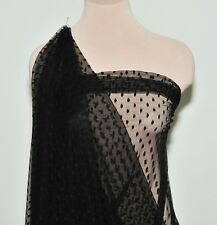 ASPIRIN DOT TULLE NETTING BLACK/ STRETCH/  POLYESTER COSTUME FORMAL PAGEANT 43""