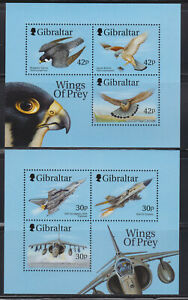 Gibraltar 2 mint s/s - Wings Of Prey MNH