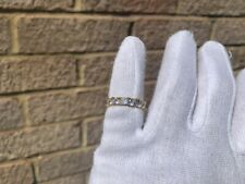Iced 18K Gold Plated Tennis Lab Diamond Pinky Ring Size 7