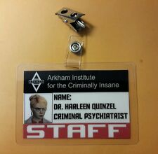 Batman ID Badge-Arkham Dr. Harleen Quinzel Harley Quinn pic cosplay prop costume