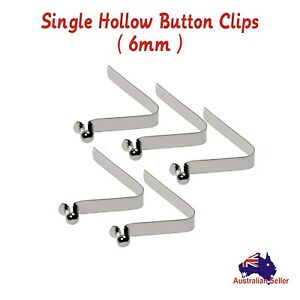 5pc 6mm Steel Kayak Tent Pole Push Solid Hollow Button Spring Snap Clips Pins